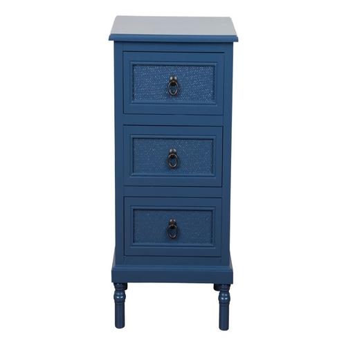 Συρταριέρα με 3 συρτάρια μπλε