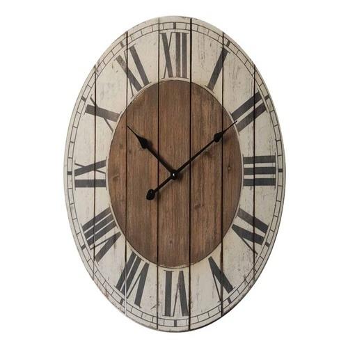 Ρολόι τοίχου στρογγυλό ξύλινο