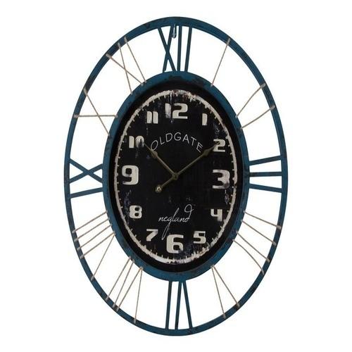 Ρολόι τοίχου στρογγυλό μέταλλο και ξύλο Old Gate
