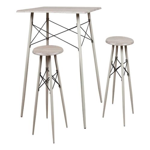 Σετ ορθογώνιο τραπέζι με 2 σκαμπό