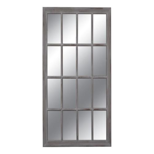 Καθρέπτης ορθογώνιος σχέδιο παράθυρο γκρι