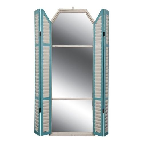 Ξύλινος καθρέπτης παράθυρο με παντζούρια