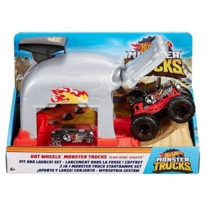 Hot Wheels Monster Trucks Bone Shaker Νεκροκεφαλή Σετ Παιχνιδιού Εκτοξευτές GKY01 papanikolaoustore.gr