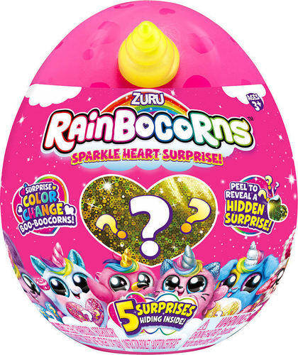 Rainbocorns Sparkle Heart Sequin Λούτρινο Έκπληξη σε Αυγό 18εκ - 6 Σχέδια papanikolaoustore.gr