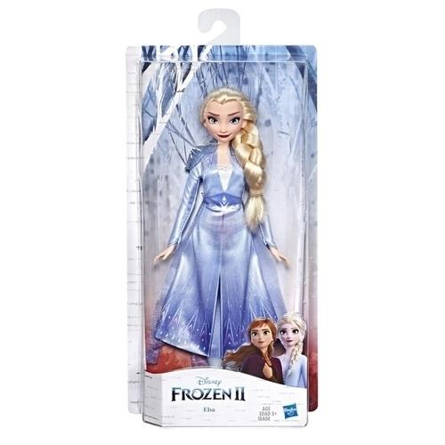 Disney Frozen II Κούκλα Έλσα με Μακριά Ξανθά Μαλλιά και Μπλε Φόρεμα E5514 / E6709 papanikolaoustore.gr