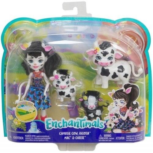 Enchantimals Cambrie Cow Κούκλα Και Ζωάκια Φιλαράκια GJX43 / GJX44 papanikolaoustore.gr