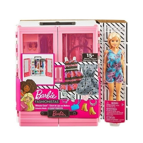 Η Ντουλάπα Της Barbie Με Κούκλα GBK12 papanikolaoustore.gr