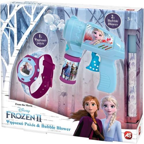 Frozen 2 Ρολόι & Bubble Gun 1500-15695 papanikolaoustore.gr