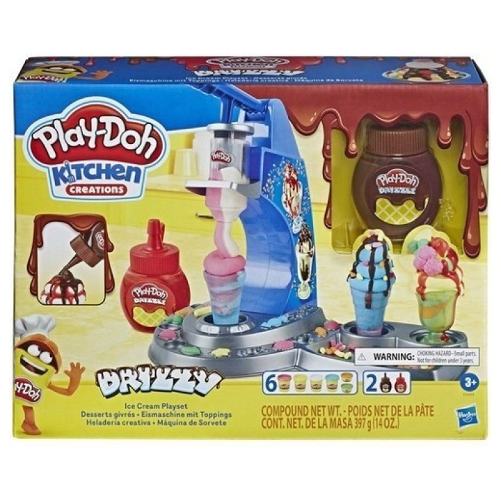 Play-Doh Kitchen Creations Drizzy Ice Cream Playset E6688 papanikolaoustore.gr