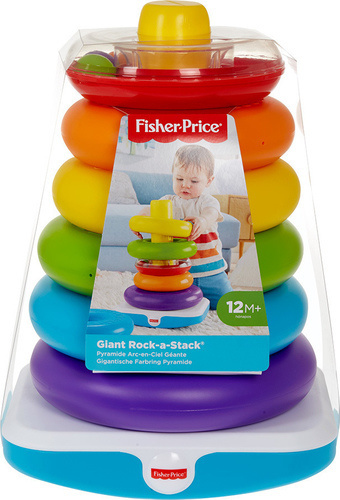 Fisher-Price Giant Rock-A-Stack Μεγάλη Πυραμίδα papanikolaoustore.gr