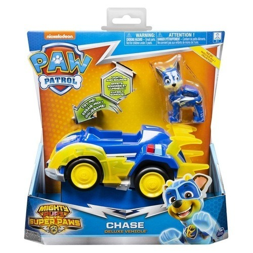 Paw Patrol Mighty Pups Super Paws Chase'S Deluxe Vehicle With Lights And Sounds 20115475 papanikolaoustore.gr