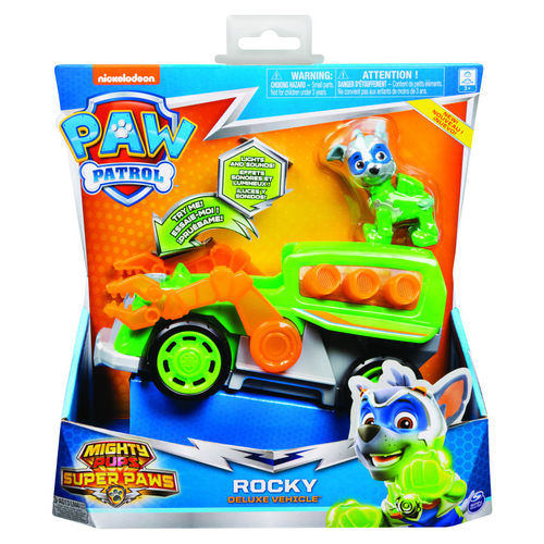 Paw Patrol Mighty Pups Super Paws Rocky Deluxe Vehicle 20115479 papanikolaoustore.gr