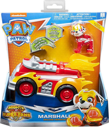 Paw Patrol Mighty Pups Super Paws Marshall Deluxe Vehicle 20115476 papanikolaoustore.gr