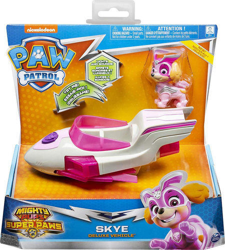 Paw Patrol Mighty Pups Super Paws Skye Deluxe Vehicle 20115478 papanikolaoustore.gr