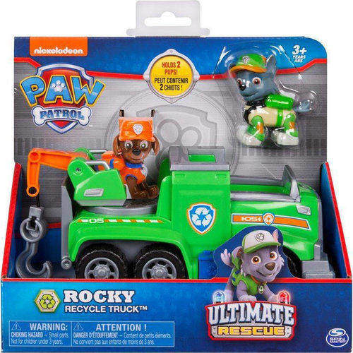 Paw Patrol Ultimate Rescue Basic Vehicles Rocky Recycle Truck 20101537 papanikolaoustore.gr