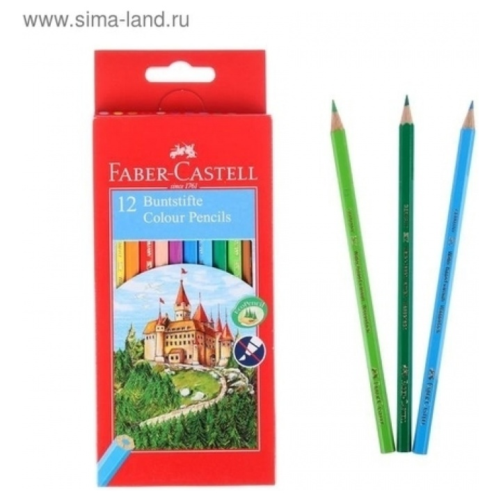 Faber-Castell Ξυλομπογιές  σετ 12χρώματα