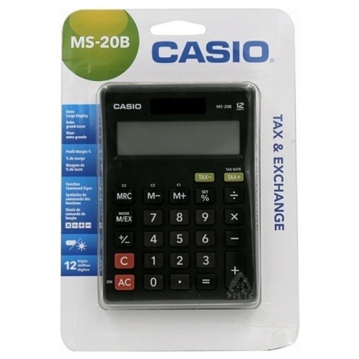 CASIO Αριθμομηχανή 12 Ψηφίων MS-20