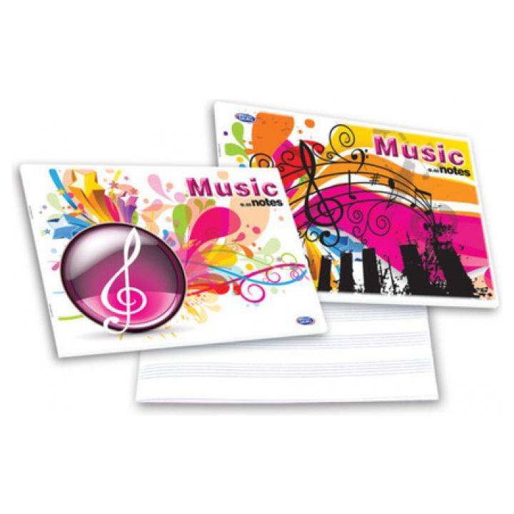 Skag Τετράδιο Μουσικής Πλάγιο 40 Φύλλων