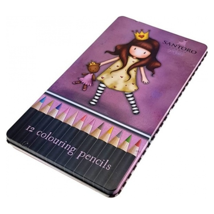 GORJUSS Ξυλομπογιές Princesses 12 Χρώματα